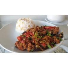 Patlıcan Musakka + Pilav